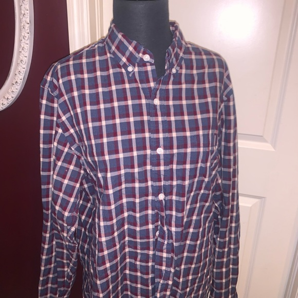 Checkered J Crew Red White and Blue Button Down